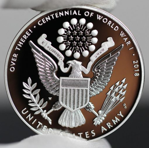 Photo of World War I Centennial 2018 Army Silver Medal - Reverse-a