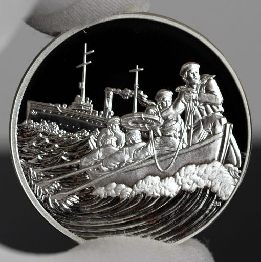 Photo of World War I Centennial 2018 Coast Guard Silver Medal - Obverse-a