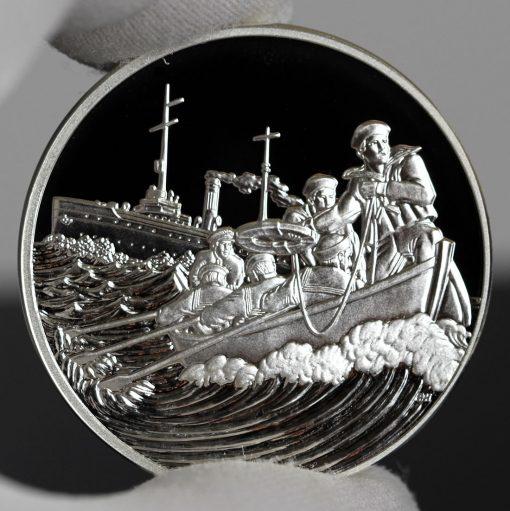 Photo of World War I Centennial 2018 Coast Guard Silver Medal - Obverse-a