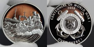 World War I Centennial 2018 Coast Guard Silver Medal Photos