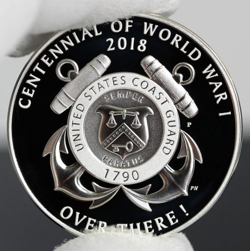Photo of World War I Centennial 2018 Coast Guard Silver Medal - Reverse-a