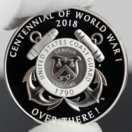 Photo of World War I Centennial 2018 Coast Guard Silver Medal - Reverse-a