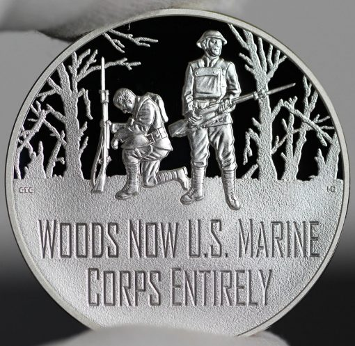 Photo of World War I Centennial 2018 Marine Corps Silver Medal - Obverse
