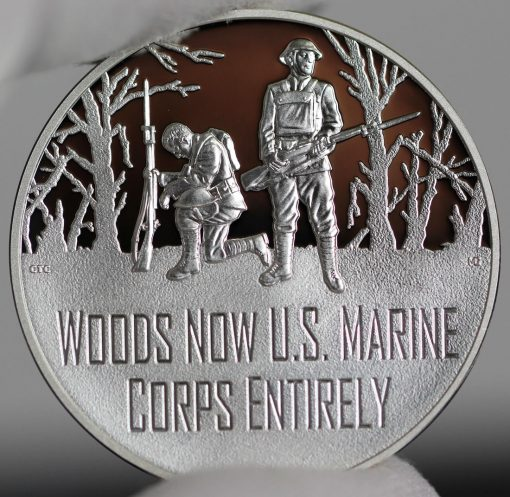 Photo of World War I Centennial 2018 Marine Corps Silver Medal - Obverse-a