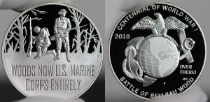 World War I Centennial 2018 Marine Corps Silver Medal Photos