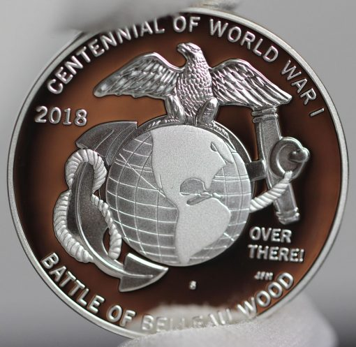 Photo of World War I Centennial 2018 Marine Corps Silver Medal - Reverse