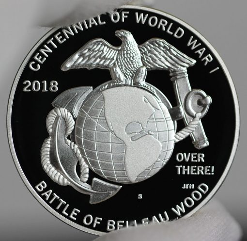 Photo of World War I Centennial 2018 Marine Corps Silver Medal - Reverse-a