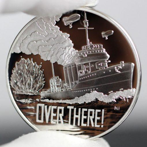 Photo of World War I Centennial 2018 Navy Silver Medal - Obverse