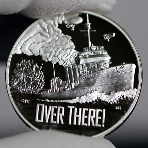 Photo of World War I Centennial 2018 Navy Silver Medal - Obverse-a