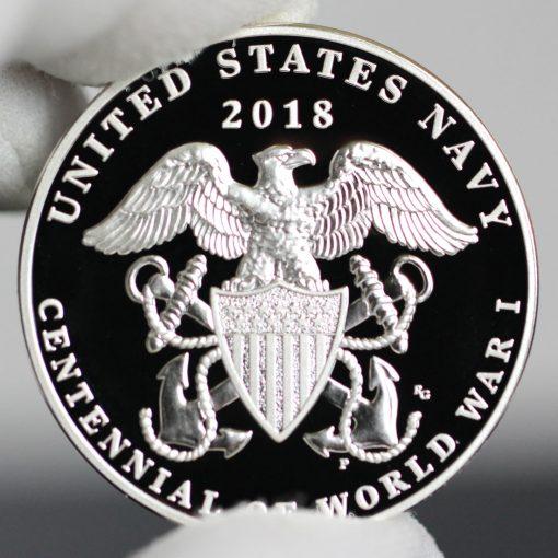 Photo of World War I Centennial 2018 Navy Silver Medal - Reverse-a