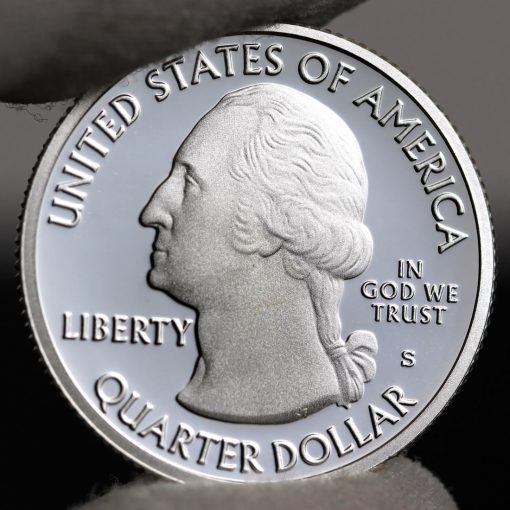 Photo of silver 2018-S Proof Voyageurs National Park Quarter - Obverse