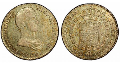 Spain 1809-S 2 Escudos
