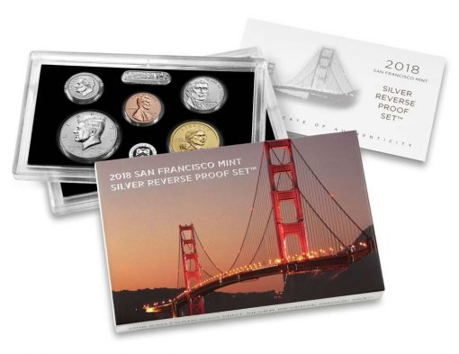 U.S. Mint image of 2018-S Silver Reverse Proof Set