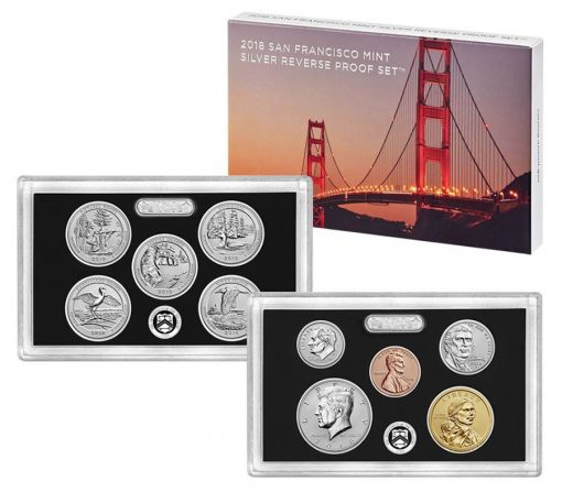 U.S. Mint image of 2018 Silver Reverse Proof Set