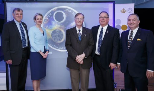 Unveiling of 2018 $20 150th Anniversary RASC Silver Coin