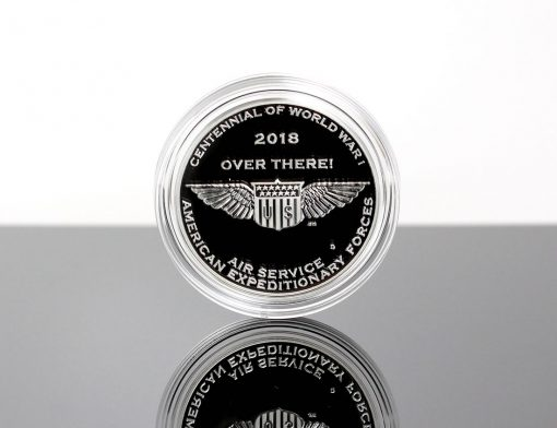 World War I Centennial 2018 Air Service Silver Medal - Reverse, Encapsulated