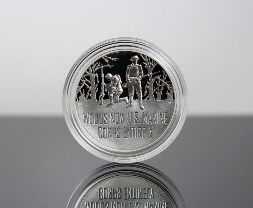 World War I Centennial 2018 Marine Corps Silver Medal - Obverse, Encapsulated