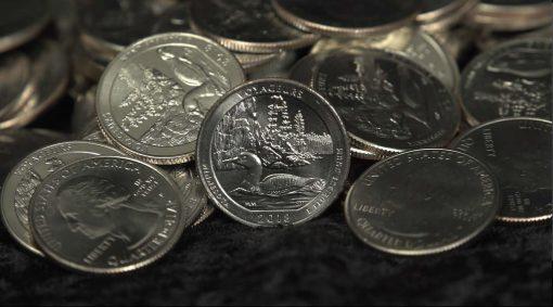 coin pile still