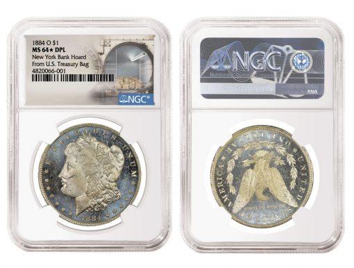 1884 O $1 New York Bank Hoard From U.S. Treasury MS 64 DPL