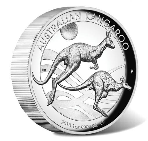 2018 $1 Australian Kangaroo 1oz Silver Proof High Relief Coin - Reverse