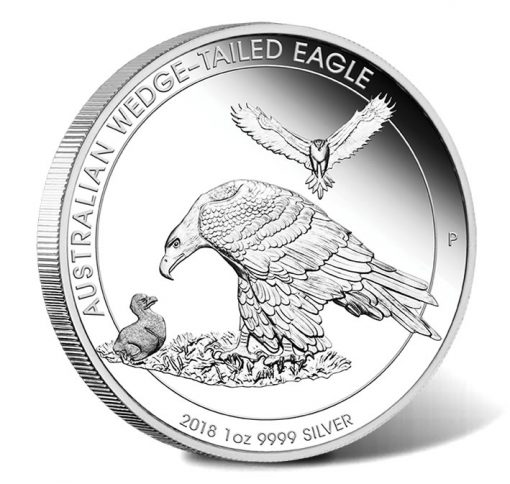 2018 $1 Australian Wedge-Tailed Eagle 1oz Silver Proof Coin - Reverse