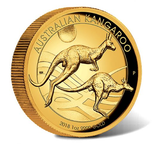 2018 $100 Australian Kangaroo 1oz Gold Proof High Relief Coin - Reverse
