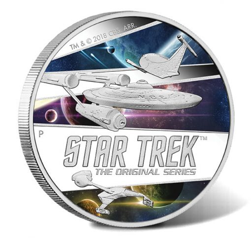 2018 $2 Star Trek: The Original Series Ships 2oz Silver Proof Coin - Reverse