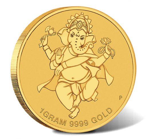 2018 $4 Diwali 1g Gold Coin - Reverse