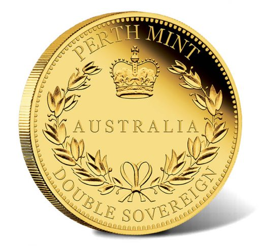 2018 $50 Australia Double Sovereign Gold Proof Coin - Reverse