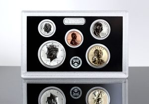2018-S Silver Reverse Proof Set - Lens for $1, 50c, 10c, 5, 1c (Obverses)
