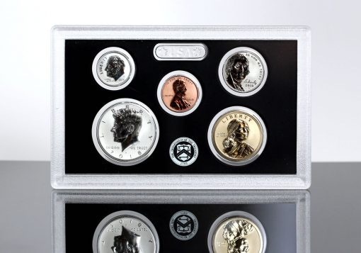 2018-S Silver Reverse Proof Set - Lens for $1, 50c, 10c, 5, and 1c (Obverses)