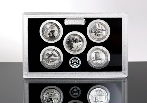 2018-S Silver Reverse Proof Set - Lens for Quarters (Reverses)