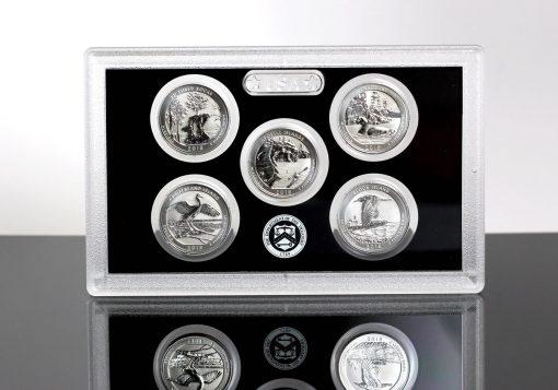 2018-S Silver Reverse Proof Set - Lens for Quarters (Reverses)