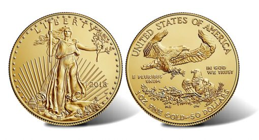 2018-W $50 Uncirculated American Gold Eagle - Obverse and Reverse