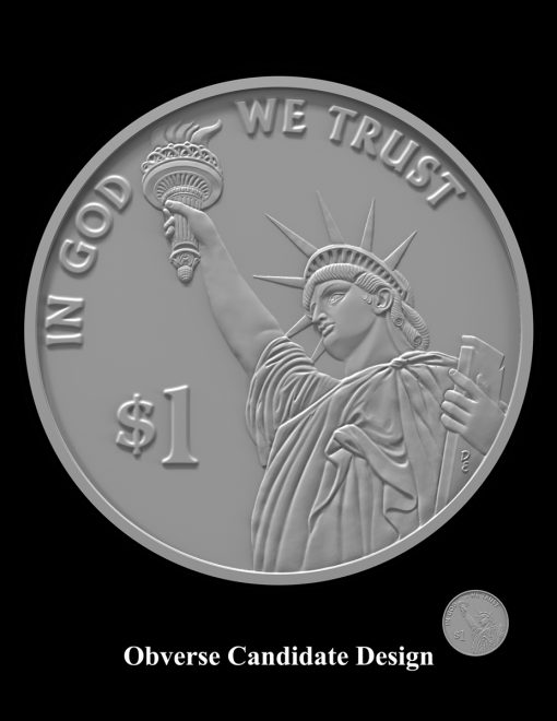 American Innovation $1 Coin Design Candidate AI-Obverse