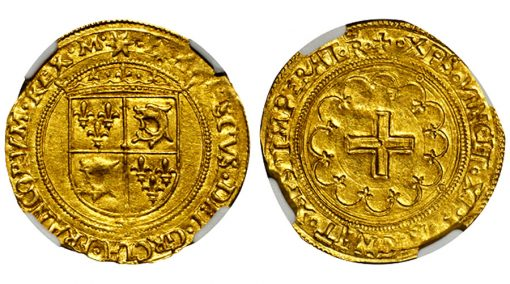 FRANCE. Ecu d'Or du Dauphine, ND 1542-47