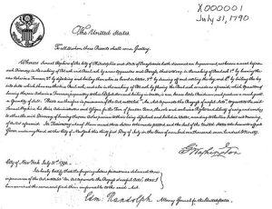 First U.S. Patent - X000001