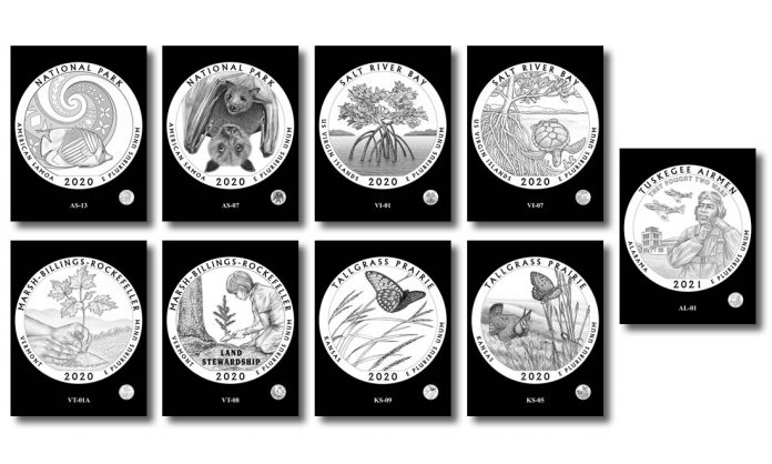 Recommended 2020-2021 America the Beautiful Quarter Dollar Designs