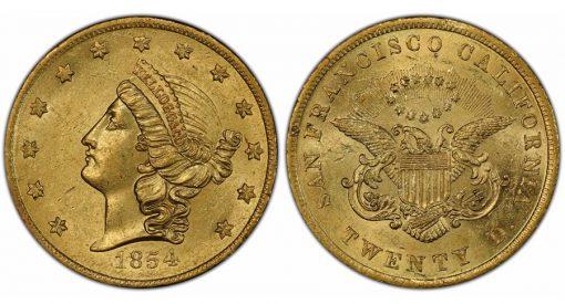 Second finest known 1854 Kellogg $20
