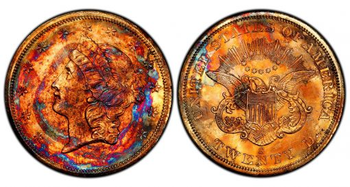 Supernova 1857-S Double Eagle PCGS MS67