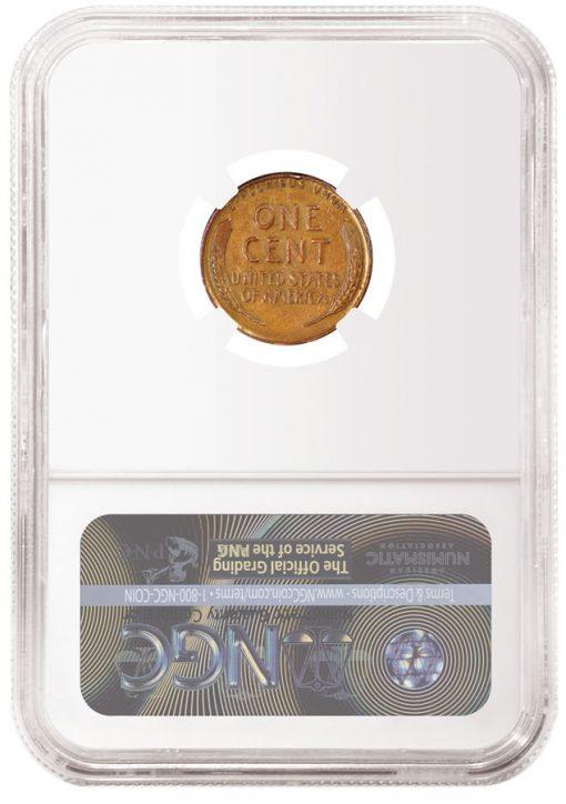 1943 Bronze 1C NGC Au 53 BN Don Lutes Jr. Discovery Specimen - Reverse
