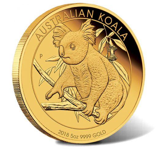 2018 Australian Koala 5oz Gold Proof Coin
