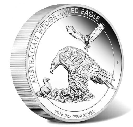 2018 Australian Wedge-Tailed Eagle 2oz Silver Piedfort Coin
