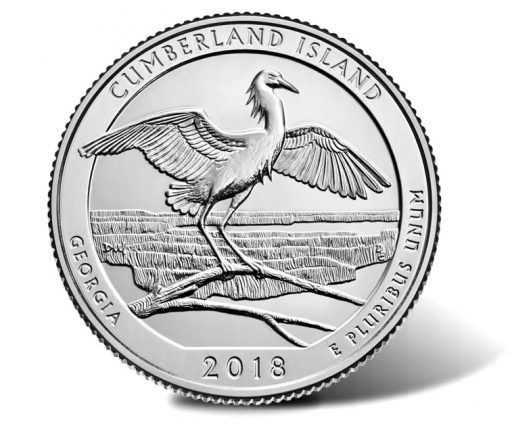 2018 Cumberland Island National Seashore Quarter - reverse