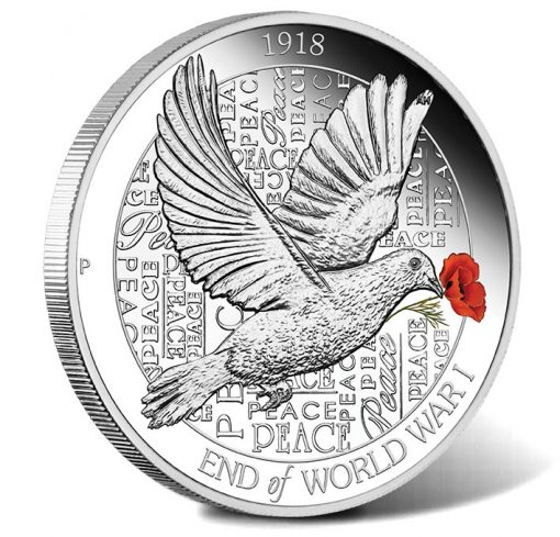 2018 End of WWI 100th Anniversary 1oz Silver Proof Coin