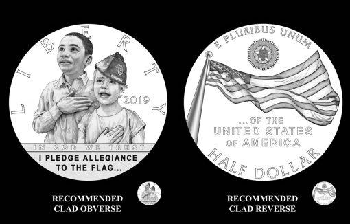 2019 American Legion 100th Anniversary Half Dollar Designs - Obverse and Reverse