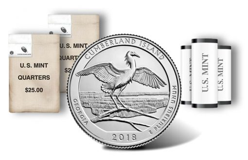 Cumberland Island National Seashore quarter, rolls and bags