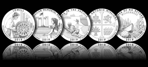 Designs for 2019 America the Beautiful Quarters and 5 oz Silver Coins