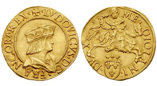 Doppio Ducat of French King Louis XII