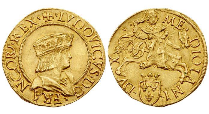 Doppio Ducat of French King Louis XII